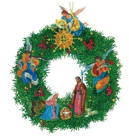 Caspari Advent Calendar Die Cut - Nativity Wreath