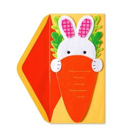 Papyrus Greetings Easter Card Easter Bunny and Carrot