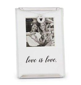 Mud Pie Love is Love Clip Frame Gay Lesbian Same Sex Photo Frame