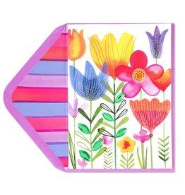 Papyrus Greetings Easter Card Growing Spring Flowers
