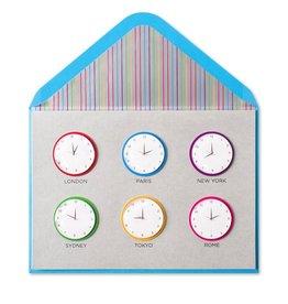 PAPYRUS® Bon Voyage Card World Clocks