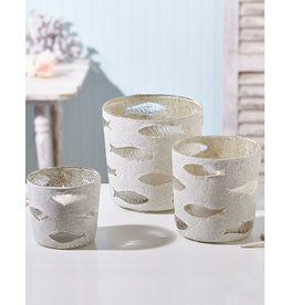 Twos Company Fish Candle Holders Set of 3 51490 by Twos Company