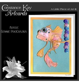 Constance Kay Art Card Multi Color Gold Fish by Constance Kay