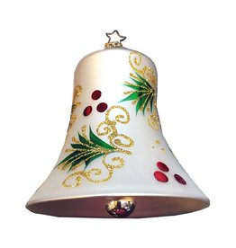 Inge-Glas Holly Boughs Bell Ornament
