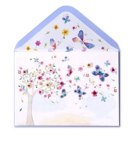 Papyrus Greetings Mothers Day Card Tree with Flowers and Butterflies