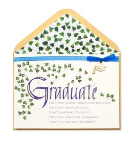 Papyrus Greetings Graduation Card Calligraphy and Ivy