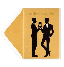 Papyrus Greetings Wedding Card Gay Wedding Two Grooms Silhouette