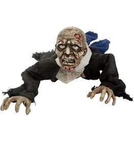 Mark Roberts Halloween Decor Animated Crawling Zombie 55 inch 66-61664