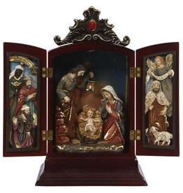 Mark Roberts Christmas Decorations Nativity Triptych Wood Box 8 inch