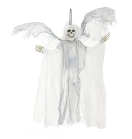 Mark Roberts Halloween Animated Flying-Winged Skeleton Reaper 18in WHT