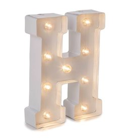 Darice LED Light Up Marquee Letter H 5915-785 White Metal