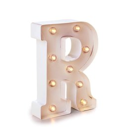 Darice LED Light Up Marquee Letter R 5915-794 White Metal