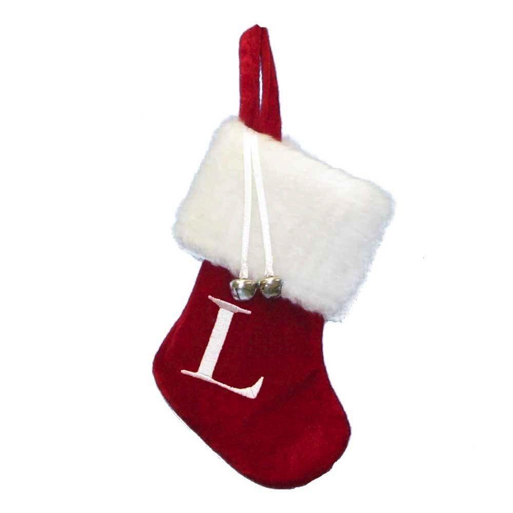 Letter Christmas Stockings.Kurt Adler Mini Red Monogrammed Christmas Stocking W Initial Letter L