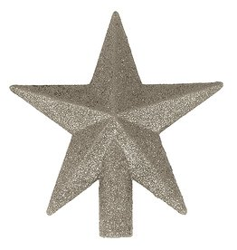 Kurt Adler Mini Christmas Star Tree Topper Petite Treasures 4in Silver