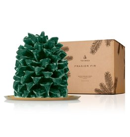 Thymes Frasier Fir Pinecone Candle Large 6.5x5x5.5