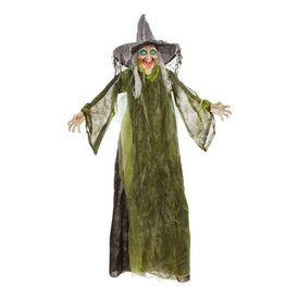 Darice Halloween Animated Standing Witch w Turning Head Decoration 5ft
