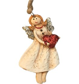 Darice Mini Angel Ornament Standing with Heart