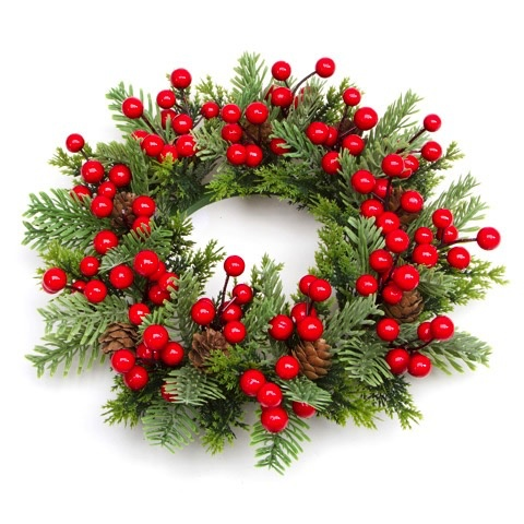 Christmas Ring.Darice Christmas Candle Ring For 5 5in Pillar Mini Wreath Pine Berry