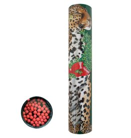 Caspari Christmas Fireplace Matches in Round Gift Box Wild Christmas