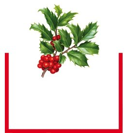 Caspari Table Place Cards Die Cut 8pk Christmas Trimmings