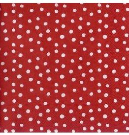 Caspari Paper Dinner Napkins 9500D Small Dots Red 20pk