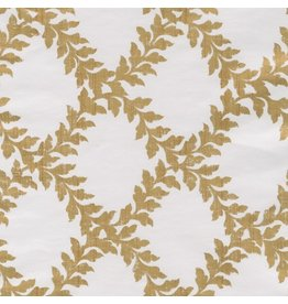 Caspari Gift Wrapping Paper 8ft Roll Acanthus Trellis Ivory Gold
