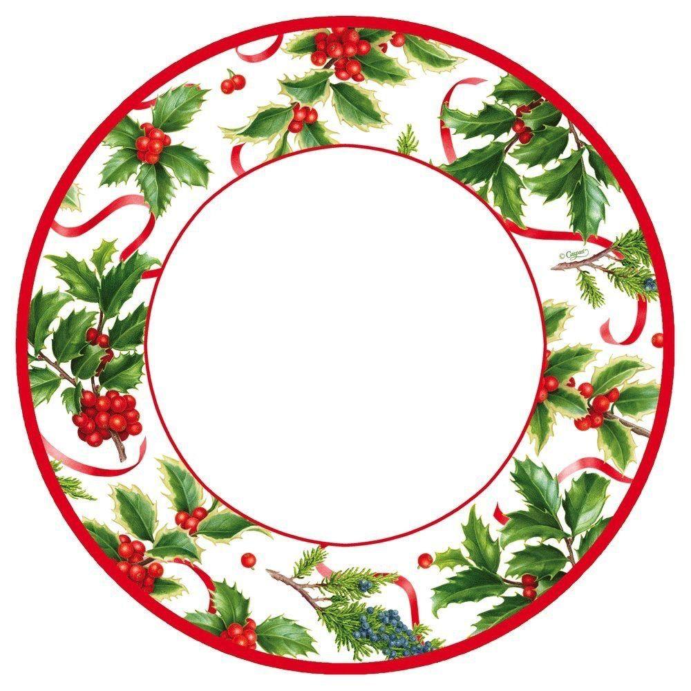 Christmas Paper Plates.Caspari Christmas Paper Dinner Plates 8pk Round Christmas Trimmings