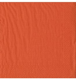 Caspari Paper Dinner Napkins 20ct Grosgrain Deep Orange