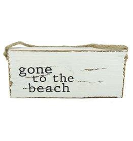 Mud Pie Beach Sign Door Hanger w Gone to the Beach