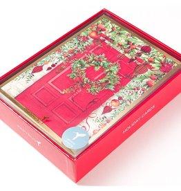 Papyrus Greetings Boxed Christmas Cards Sonata Holiday Doorway 14pk