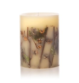 Rosy Rings Forest Botanical Candle Pillar 6x9.5H