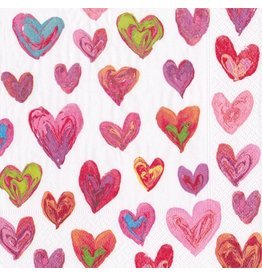 Caspari Paper Luncheon Napkins 20pk Happy Hearts