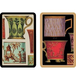 Caspari Playing Cards Bridge Cards 2 Decks - Tea Cups