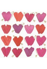 Caspari Paper Coctail Beverage Napkins 20pk Hearts and Arrows