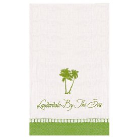 Caspari Lauderdale-By-The-Sea Guest Napkins w Palm Trees 18PK