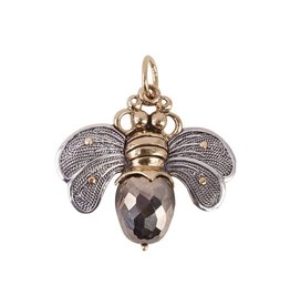 Waxing Poetic® Jewelry Bee Brave Pendant Silver-Brass-Pyrite
