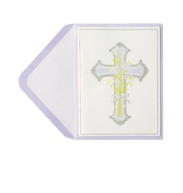 PAPYRUS® Easter Card Silver Cross Religious