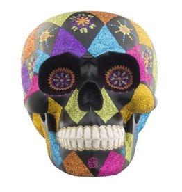 Christopher Radko Halloween Day of the Dead Skull 4027557