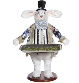 Mark Roberts Fairies Bunnies Butler Bunny With Tray 19 inch B-DTS