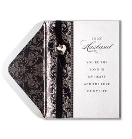 Papyrus Greetings Birthday Card For Husband Elegant Silver w Black