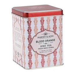 Harney & Sons Tea Blood Orange Iced Tea Fresh Brew Herbal 3oz Tin w 20 Tea Pouches
