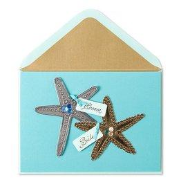 PAPYRUS® Wedding Card Starfish Scene