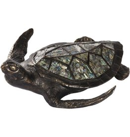Mark Roberts Stylish Home Decor Sea Turtle w Mother of Pearl 15x19 inch