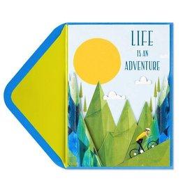 Papyrus Greetings Birthday Card Mountain Biking Adventure