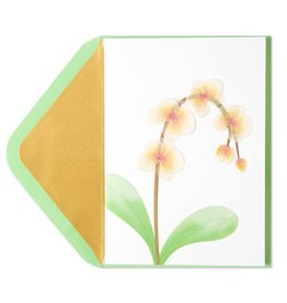 Papyrus Greetings Sympathy Card Orchids Vellum Sculpture