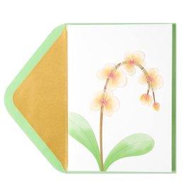 PAPYRUS® Sympathy Card Orchids Vellum Sculpture