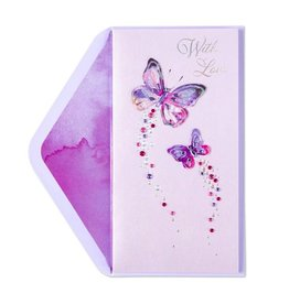 Papyrus Greetings Mothers Day Card Butterfly Glitter and Gems