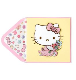 Papyrus Greetings Mothers Day Card Hello Kitty With Flowers