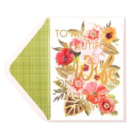 Papyrus Greetings Mothers Day Card for Wife  Beautiful and Inspiring