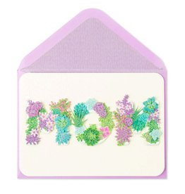 Papyrus Greetings Mothers Day Card Moms Sparkling Succlents Planters
